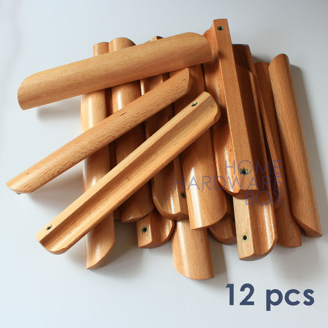 12 pcs wooden drawer cabinet pull handle clear transparent ...