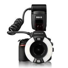 Meike MK 14EXT i TTL Macro Ring Flash voor Camera Nikon D850 D7500 D810 D80 D800 D90 D5 D4 D600 met LED Af hulplicht