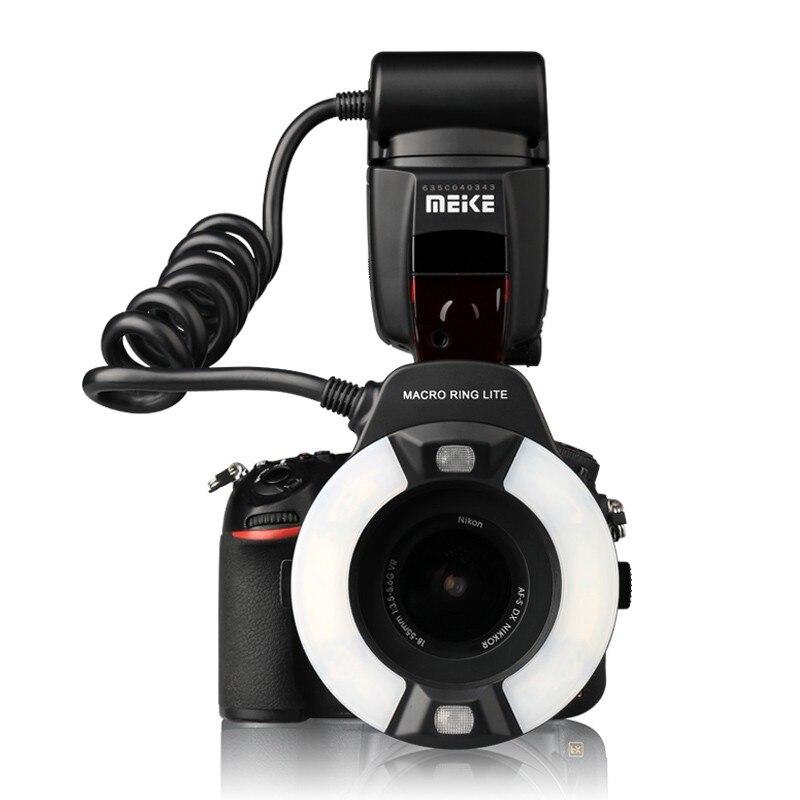 Flash para Câmera D600 com Led Meike I-ttl Macro Ring Nikon D850 D7500 D810 D80 D800 D90 d5 d4 Lâmpada Auxiliar af Mk-14ext