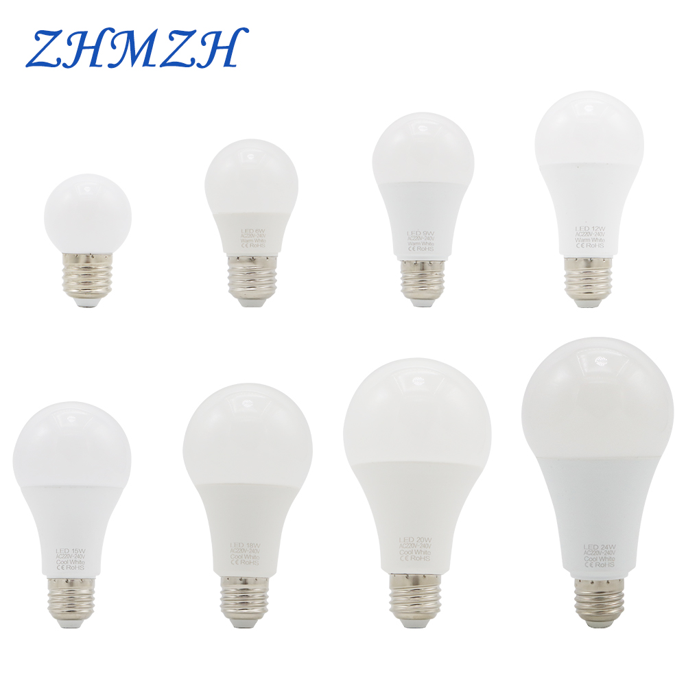 220V <font><b>LED</b></font> Light <font><b>Bulb</b></font> 3W 6W 9W 12W 15W <font><b>18W</b></font> 20W Lamp <font><b>Bulb</b></font> <font><b>E27</b></font> Ultra Brightness Energy Saving Table Lamp <font><b>Bulbs</b></font> Chandelier <font><b>LED</b></font> <font><b>Bulb</b></font> image