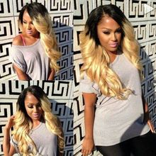 Frontal Lace Synthetic Hair Wigs For Black Women Color 3 Brown To 613 Blond Two Tones Ombre  wig Synthetic Lace Front hair