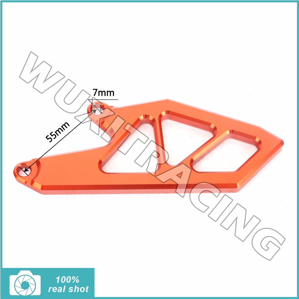 Orange / Silver Motorcycle New CNC Billet Front Sprocket Chain Cover Guard Protecter fit for KTM SXF 250 SX 250 F SX-F 250 2011 motorcycle front rider seat leather cover for ktm 125 200 390 duke