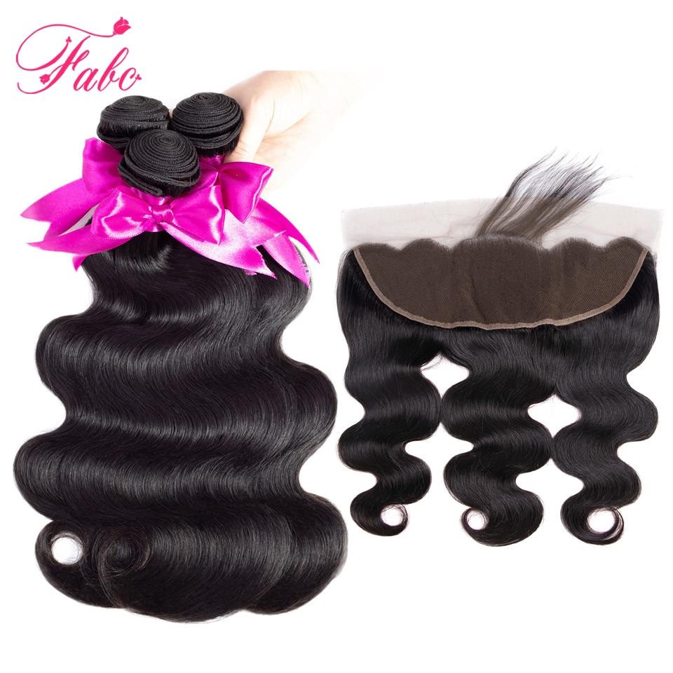 HTB1pdQblRjTBKNjSZFDq6zVgVXaU Fabc Hair Brazilian Body Wave 3 Bundles With Frontal Human Hair Weave Bundles 13x4 Lace Frontal Middle Ratio Non-remy
