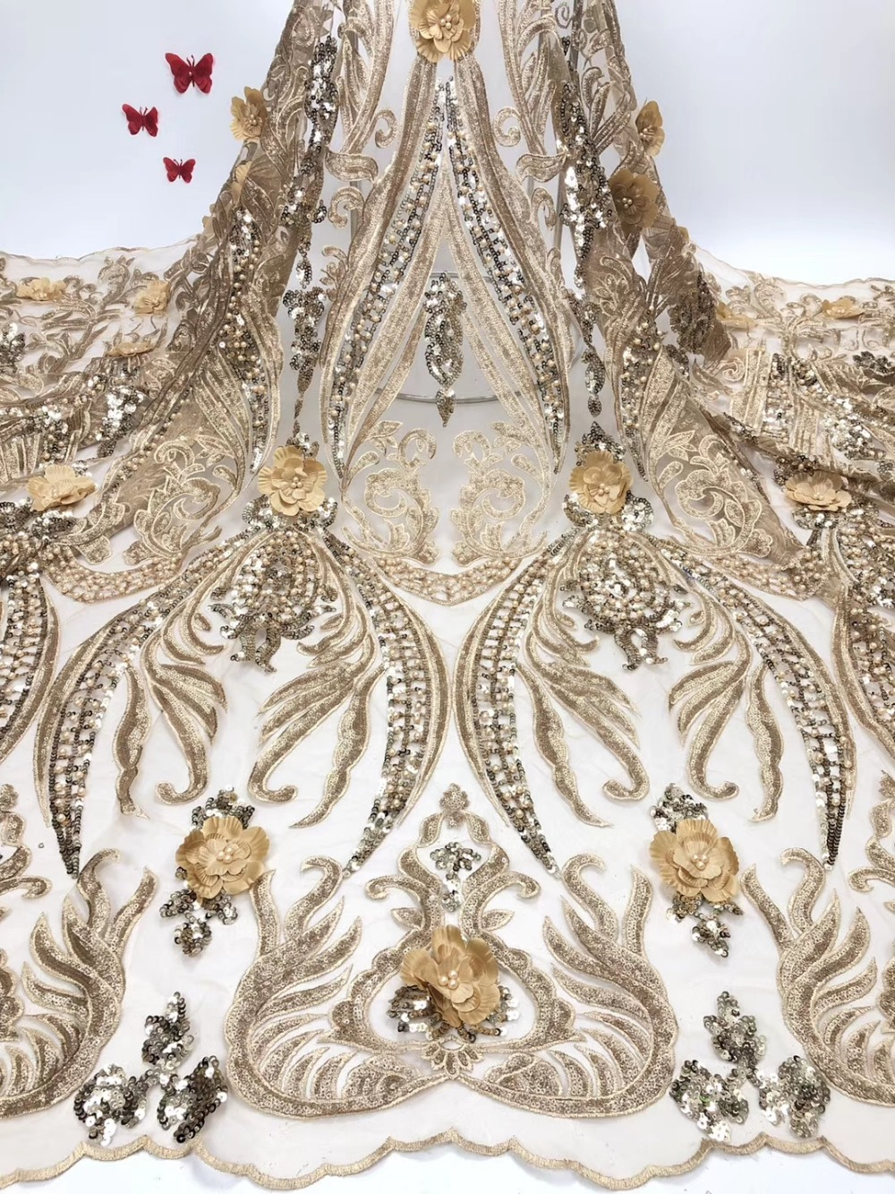 African Lace Fabric 2019 french  Lace Fabrics High Quality net Lace Embroidery French Tulle Lace Fabric For Wedding   JIAAP093African Lace Fabric 2019 french  Lace Fabrics High Quality net Lace Embroidery French Tulle Lace Fabric For Wedding   JIAAP093