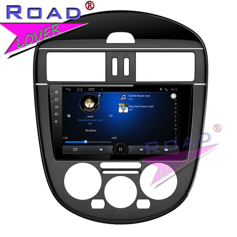 TOPNAVI Android 6.0 2G+32GB Quad Core Car Media Center Player For Nissan New Tiida 2011 Stereo GPS Navigation Capacity Touch MP3