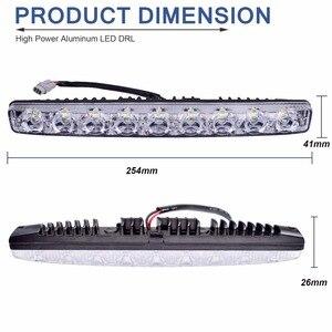1 комплект, DRL светодиодный светильник, бар, водонепроницаемый, для автомобиля, высокая мощность, алюминий, светодиодный, дневные ходовые огни, светильник s, 12, 9, светодиодный, для автомобиля, Дневной светильник, авто, светодиодный, противотуманный светильник