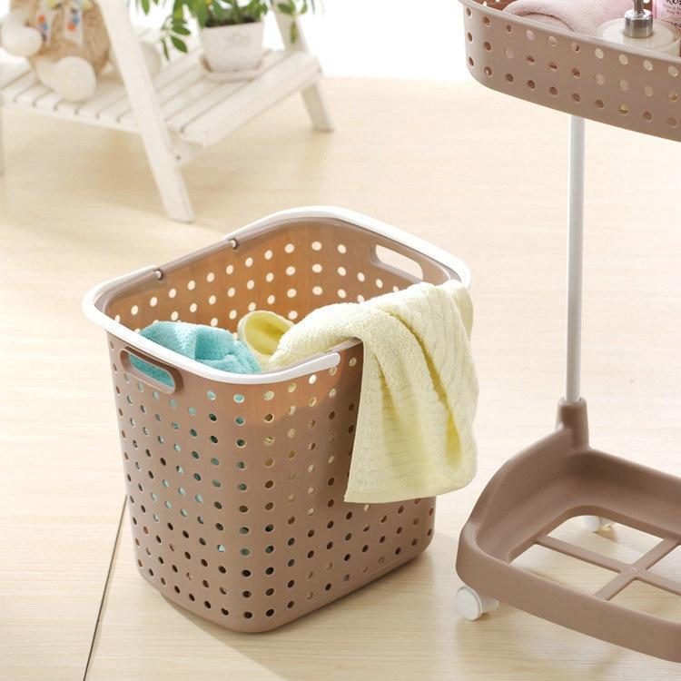 Japanese Style Large Plastic Laundry Basket Laundry Basket Dirty