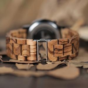 Image 5 - BOBO BIRD Wood Digital Watch Men erkek kol saati Night Vision Wooden Watches LED Time Display relogio masculino in Wood Gift Box