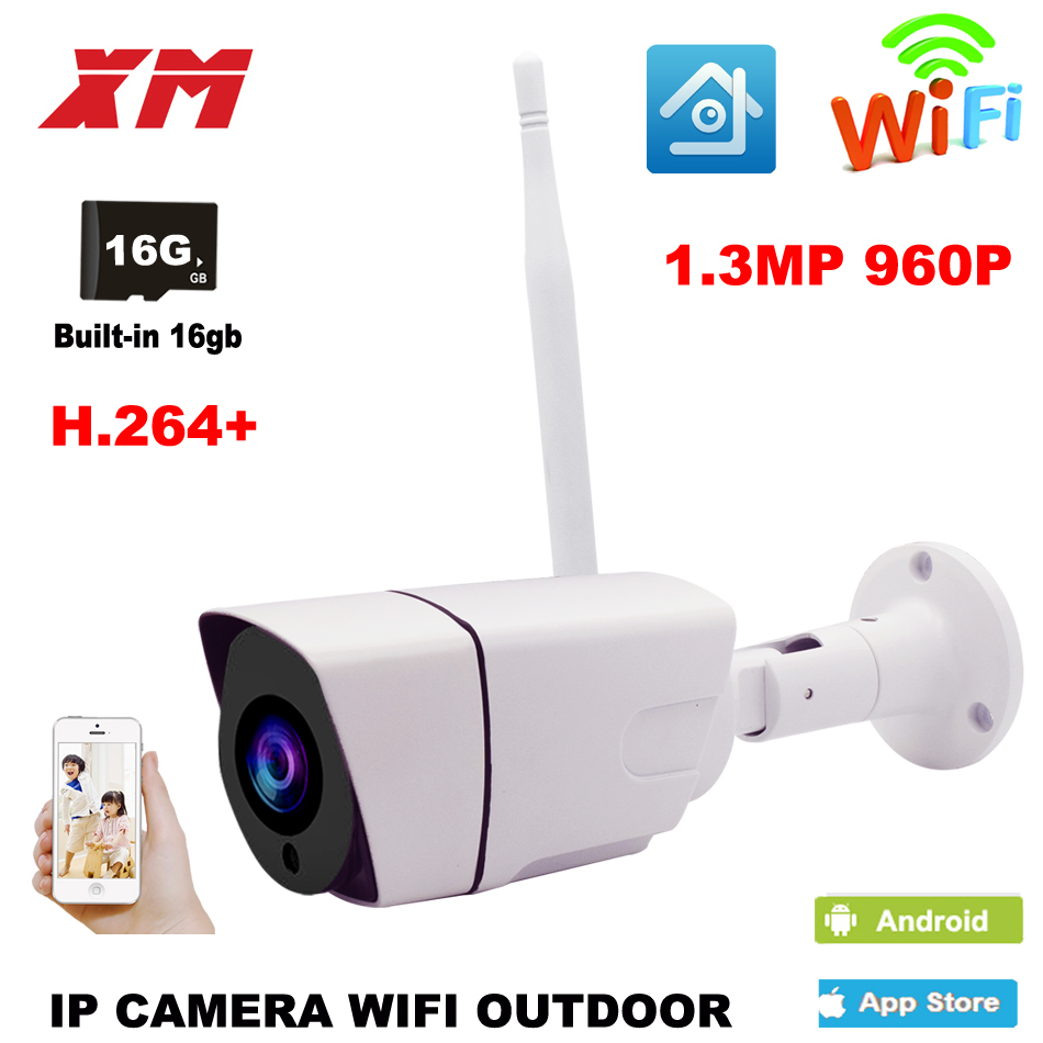 Outdoor Waterproof Bullet 960P IP Camera Wifi Wireless Surveillance Camera Built-in 16G Memory Card CCTV Camera Night Vision lintratek wireless ip bullet security camera 960p 4x optical zoom surveillance wifi cctv camera ip65 waterproof outdoor camara