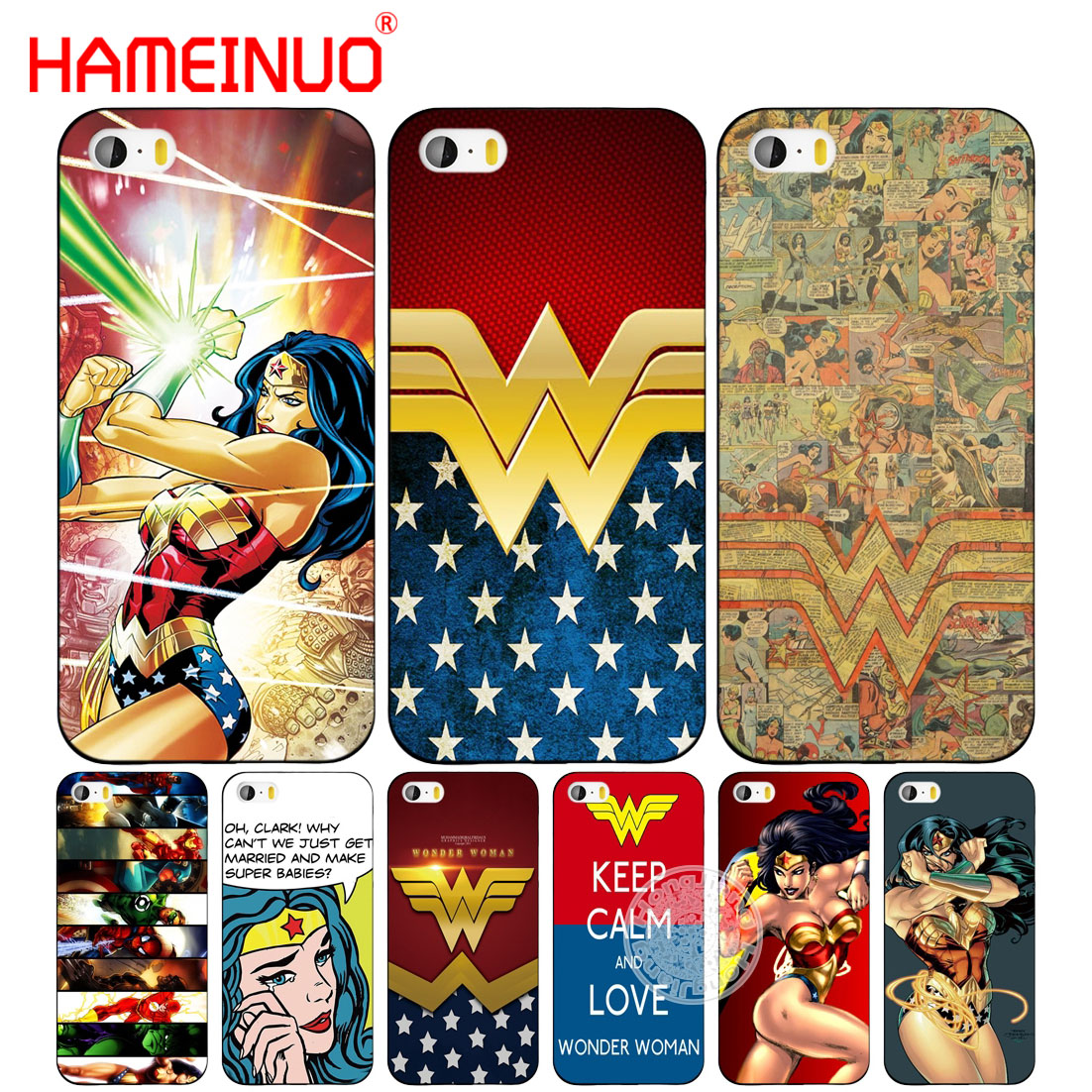 watch e5fa2 daec9 US $1.99 32% OFF|HAMEINUO new wonder women cell phone Cover case for iphone  6 4 4s 5 5s SE 5c 6 6s 7 8 plus case for iphone 7 X-in Half-wrapped Case ...