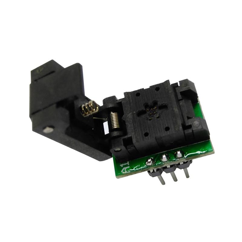 QFN6 DFN6 WSON6 Programming Socket Pogo Pin IC Test Adapter Pin Pitch 0 65mm Size 2