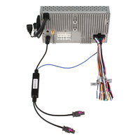 Free Shipping Two Ways Car Radio Aerial Antenna Adaptor For BMW AUDI VW SKODA