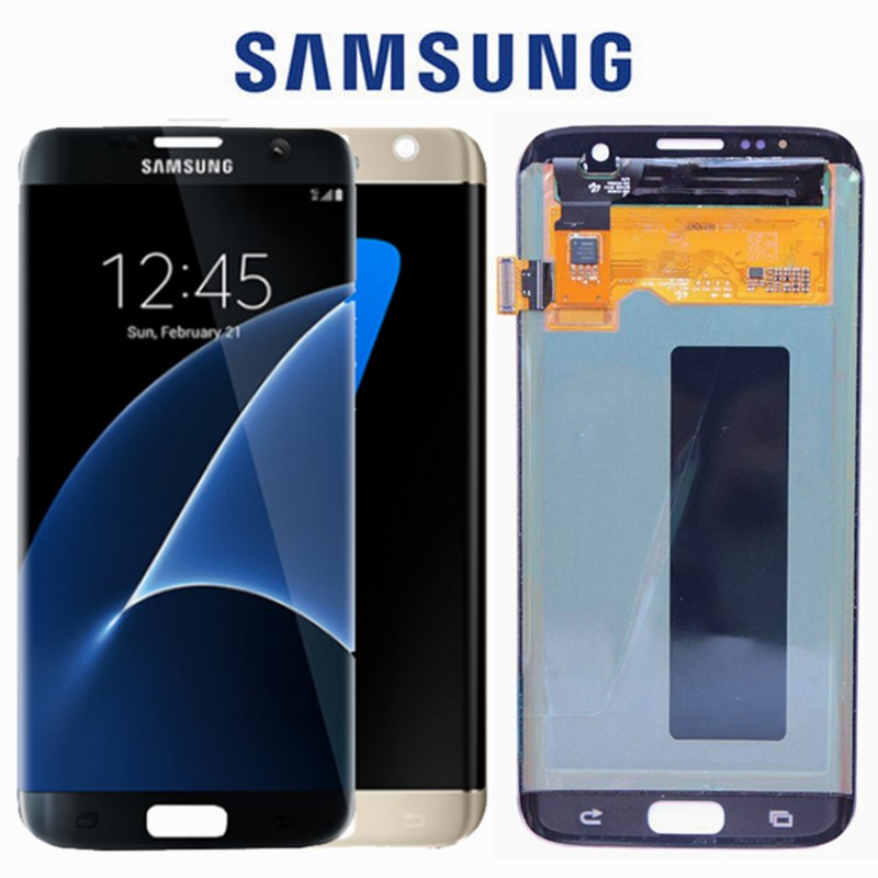5.5 Inch New Super Amoled Lcd Screen For Samsung Galaxy S7 Edge Display G935 Sm-g935f Lcd With Touch Digitizer Assembly Mobile Phone Lcds Mobile Phone Parts