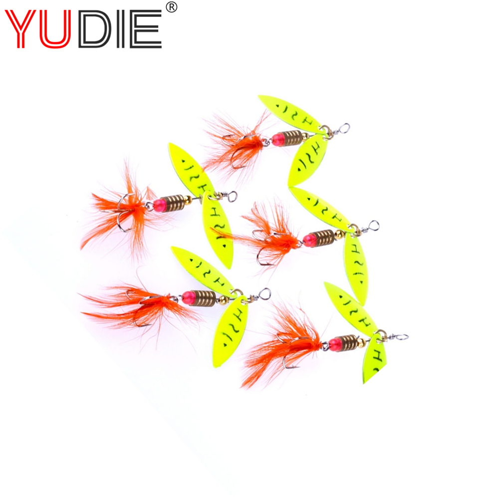 1pcs 4cm 4.5g Feather Spoon Fly Baits Slice Wing Hard Lures For Carp Fly Fishing Bait Accessories Hooks Wobblers Tool Sport Lure 30pcs set fishing lure kit hard spoon metal frog minnow jig head fishing artificial baits tackle accessories