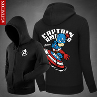 Winter Hoodies For Men Women Casual Captaion American Figure Cosplay Costume Male Coat Loose Baseball Jacket