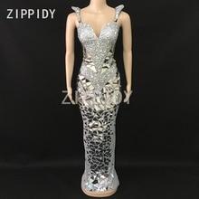 Rhinestones Long Celebrate Dress