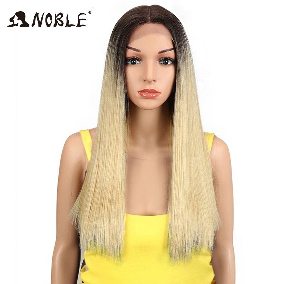 Парики из синтетических волос Noble, 20 дюймов, длинные, прямые, жаростойкие, блонд