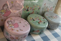 Wholesale Retail Free Shipping Tinplate Biscuit Tin Nougat Candy Box With Matching Paper Bag