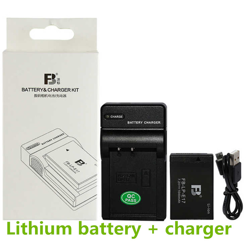 LP-E17 Li-ion Battery pack LPE17 Digital Camera Batteries Comes with USB Charger E17 For Canon EOS M3 M5 750D 760D T6i T6s 8000D