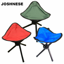 JOSHNESE Small Three-legged Ultra Light Portable Folding Fishing Chair for Outdoor Camping Hiking Fishing Seat Red / Blue /Green