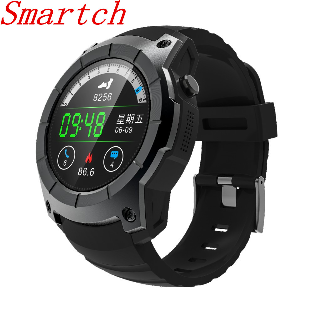 Smartch S958 Profession GPS Outdoor Sports Smart Watch Waterproof with Heart Rate Monitor Pressure for iphone Android4.3 IOS8.0 smartch s958 smart watch sport waterproof heart rate monitor gps 2g sim card calling all compatible smartwatch for android ios c