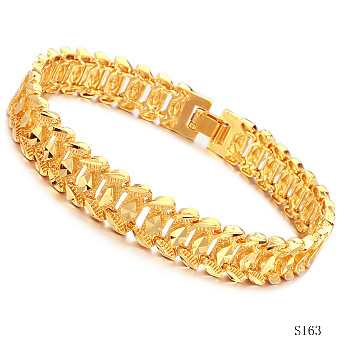Fashion Men Jewelry 18k Yellow Gold Honorable Male Bracelet Top Quality Ks163 In Chain Link Bracelets From Accessories On Aliexpress