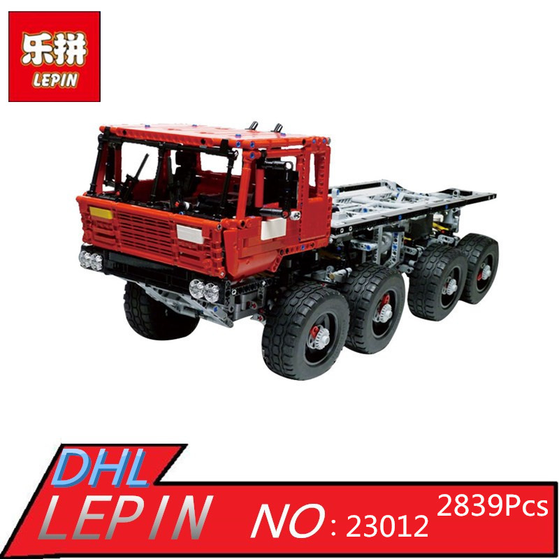 Lepin 23012 2839Pcs Genuine Technic Series The Arakawa Moc Tow Truck Tatra Educational Building Blocks Bricks Toys Gift With 813 new lepin 23012 2839pcs genuine technic series the arakawa moc tow truck tatra 813 educational building blocks bricks toys gift