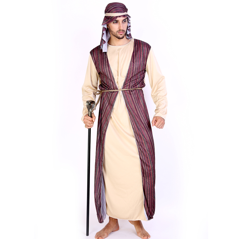 High Quality Carnival Costumes Arab Party Cosplay For Men Costume Shepherd Fancy Dress Cc0226 In Anime From Novelty