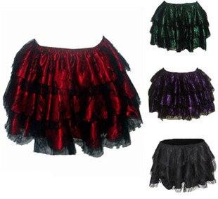 3 layer stitching Lace mini cake skirt women Gauze tutu skirt ...