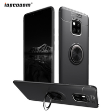купить For Huawei Mate 20 Pro Case Back Cover Soft Silicone With Stand Ring Shockproof Protective cases for huawei Mate 20 Pro Coque дешево
