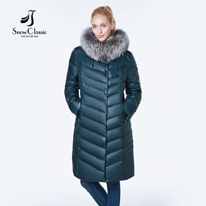 ใหม่ผู้หญิง camperas mujer abrigo invierno 2018 ผู้หญิง park plus ขนาด 6xl Silver fox fur Windproof หนา-ใน เสื้อกันลม จาก เสื้อผ้าสตรี บน   3