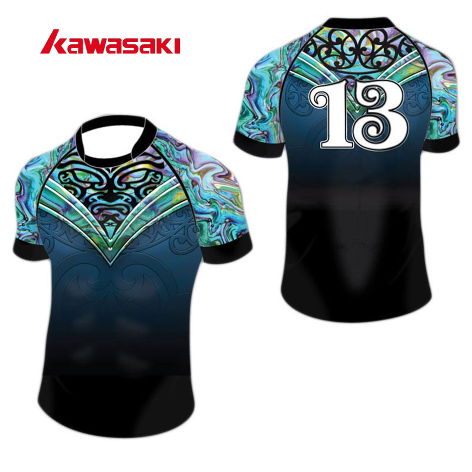 Kawasaki Brand Practice Rugby Jersey Top For Mens Women Custom Collage Exercise Training Sport Rugby Game Shirts Jersye