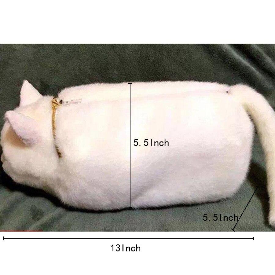Cartoon mignon chat forme chaînes femmes sacs à bandoulière personnalité kitty Messenger sacs dames 3D Animal sac à bandoulière pour adolescent - 4
