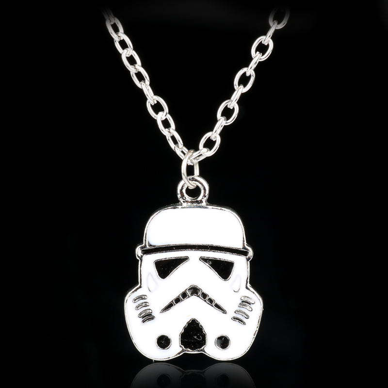 dongsheng Star Wars Storm Troops White Warrior Pendant Necklace For Men Metal Stormtrooper Necklace For Movie Fans Gifts
