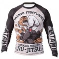 Sublimated Tatami Fitness Breathable Rashguard MMA Muay Thai Fight Kick Boxing Compression Brazilian jiu jitsu BJJ Rash Guard