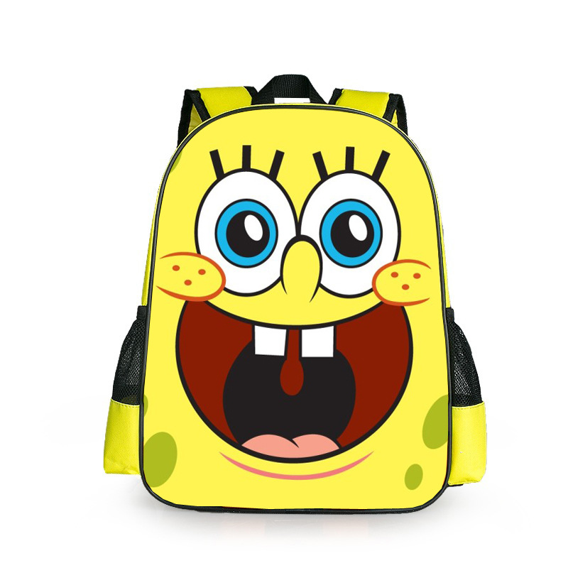 New Fashion SpongeBob SquarePants Girls Boys Cartoon Backpack Kids  School Bags For Children