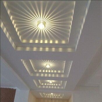 3 W LED aluminiowa sufitowa oprawa oświetleniowa Spot Light klosz lampy oświetlenie sufitowe ścienne korytarz oprawa