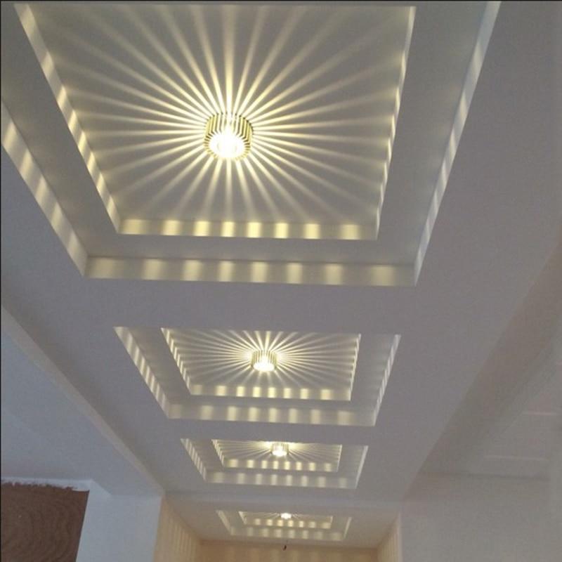 l mpara de techo de aluminio led de 3 w l mpara de sombra para techo luminaria de pasillo de. Black Bedroom Furniture Sets. Home Design Ideas