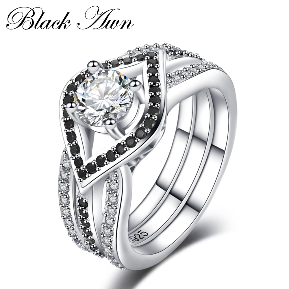 Charms 925 Sterling Silver Fine Jewelry Trendy Engagement Femme Bague for Women Wedding Rings Size 6 7 8 9 10 C055 2018 new