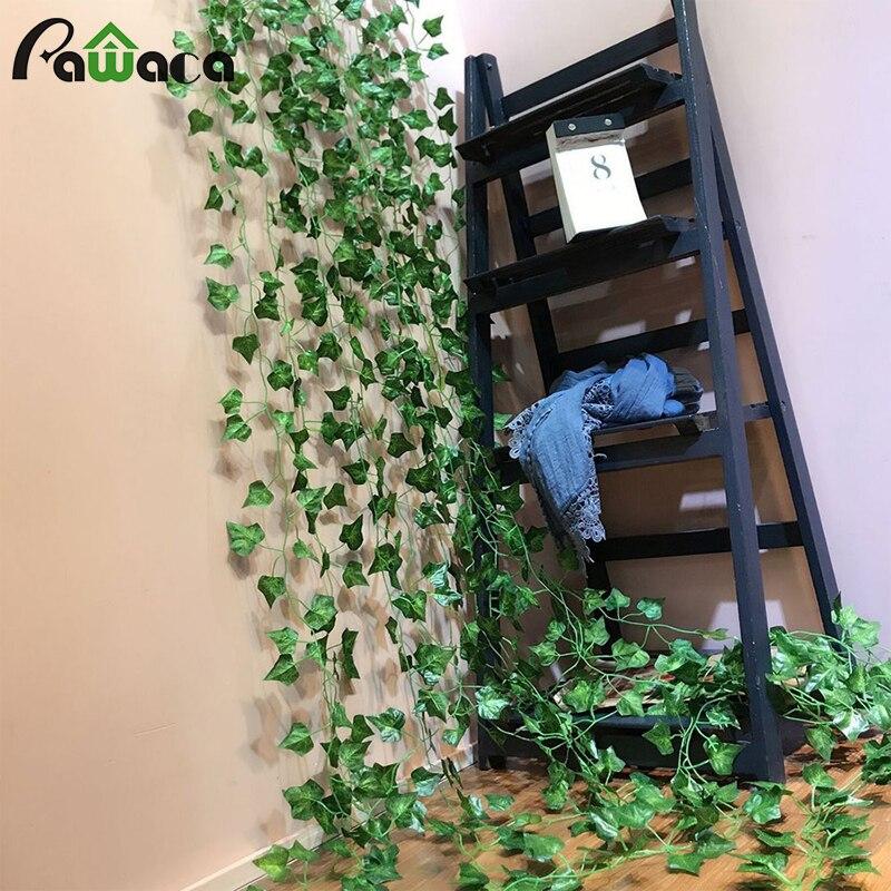 Artificial Ivy Leaf Garland Plants Vine Fake Foliage Flower Wall Decor Hanging Home Garden Office Arch Wedding Decor 3 Type Leaf
