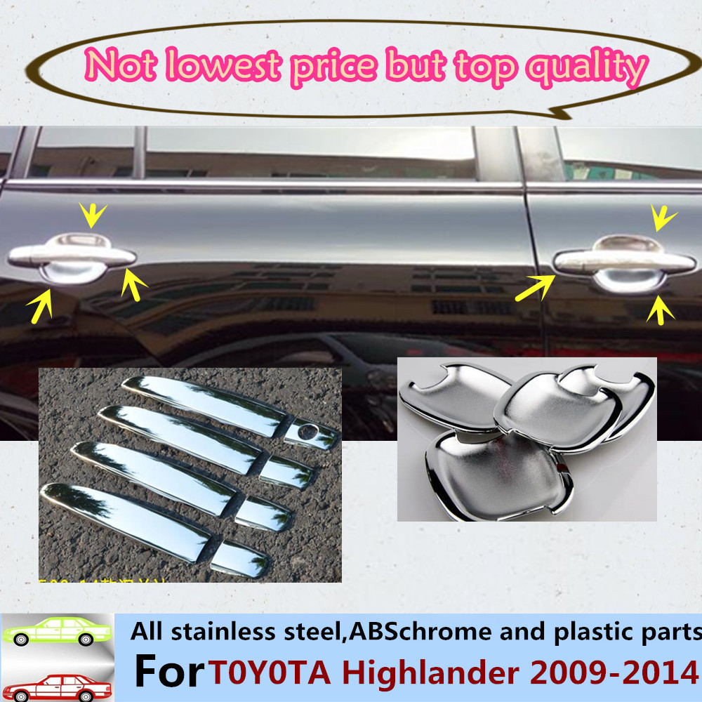 For toyota highlander 2009 2011 2012 2014 car cover trims abs chrome door handle