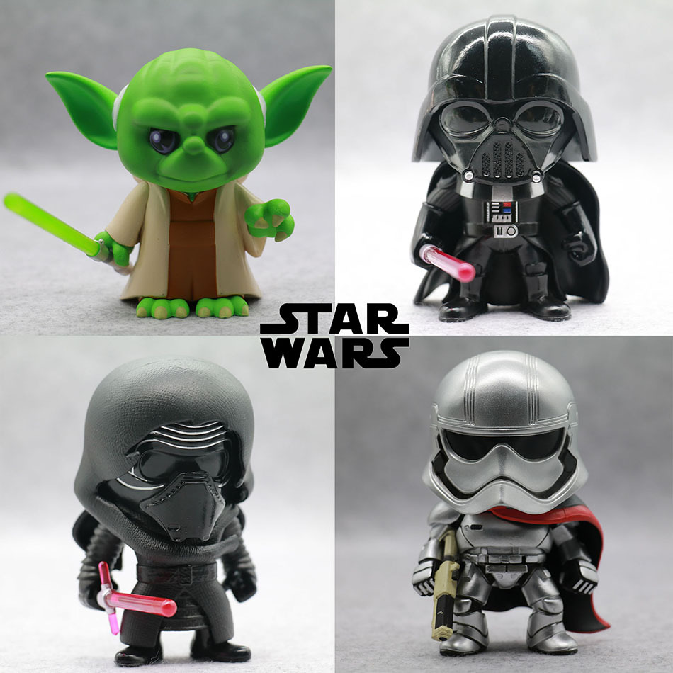Star Wars Awakens BB8 Stormtrooper Darth Vader Chewbacca PVC Model Space War Action Figure Toys Gift For Kids 10cm nendoroid star wars toy the force awakens stormtrooper darth vader 501 502 pvc action figure star wars figure toys