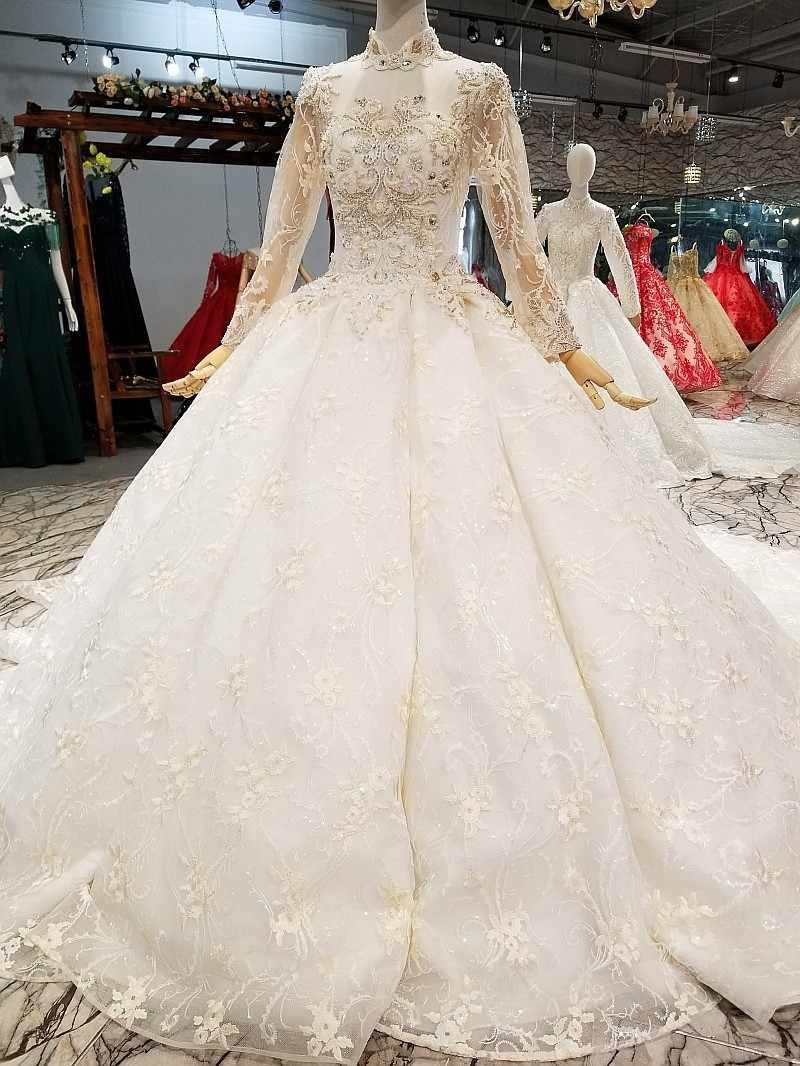 Блестящая ткань кружева Вечерние, свадебные платья 2018 на заказ Реальные фотографии корсет 3D Цветы свадебное платье с жемчугом vestido longo