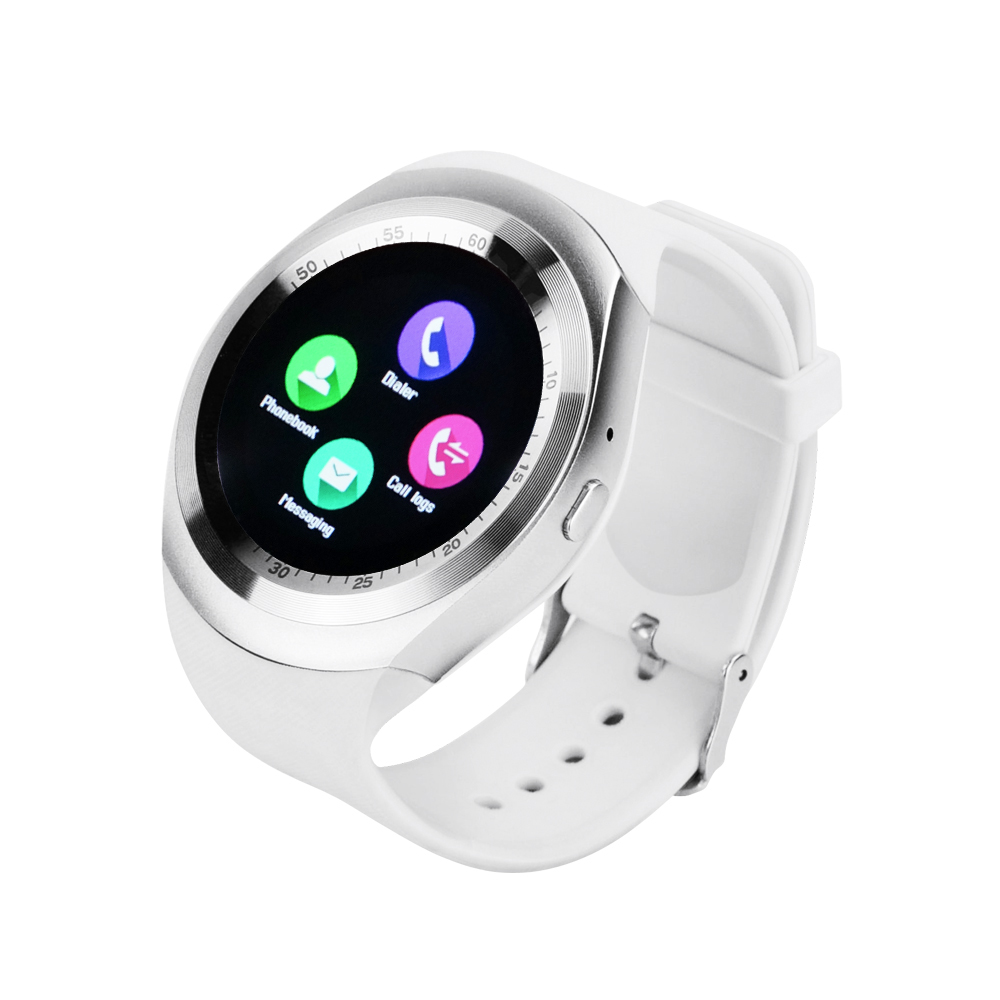 Yuntab white 1.54inch Y1 Bluetooth smart <font><b>watch</b></font> fitness activity tracker sleep monitor <font><b>pedometer</b></font> track with <font><b>support</b></font> <font><b>SIM</b></font> card solt