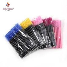 Высокое качество Пластиковые зубные щетки с мягкой щетки 50 шт./упак. мини одноразовая щеточка для ресниц палочки для макияжа Косметические Инструменты для туши Длина 72 мм