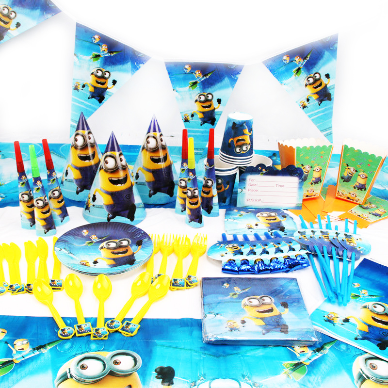117pcs Minions Theme Wedding Birthday Cartoon Invitation Card Baby