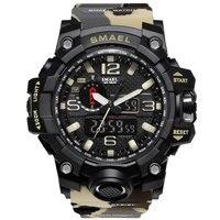 ใหม่กีฬาผู้ชายดูการแสดงผลแบบdualดิจิตอลนาฬิกาผู้ชายLedกันน้ำนาฬิกาข้อมือข้อมือชายกองทัพทหา...
