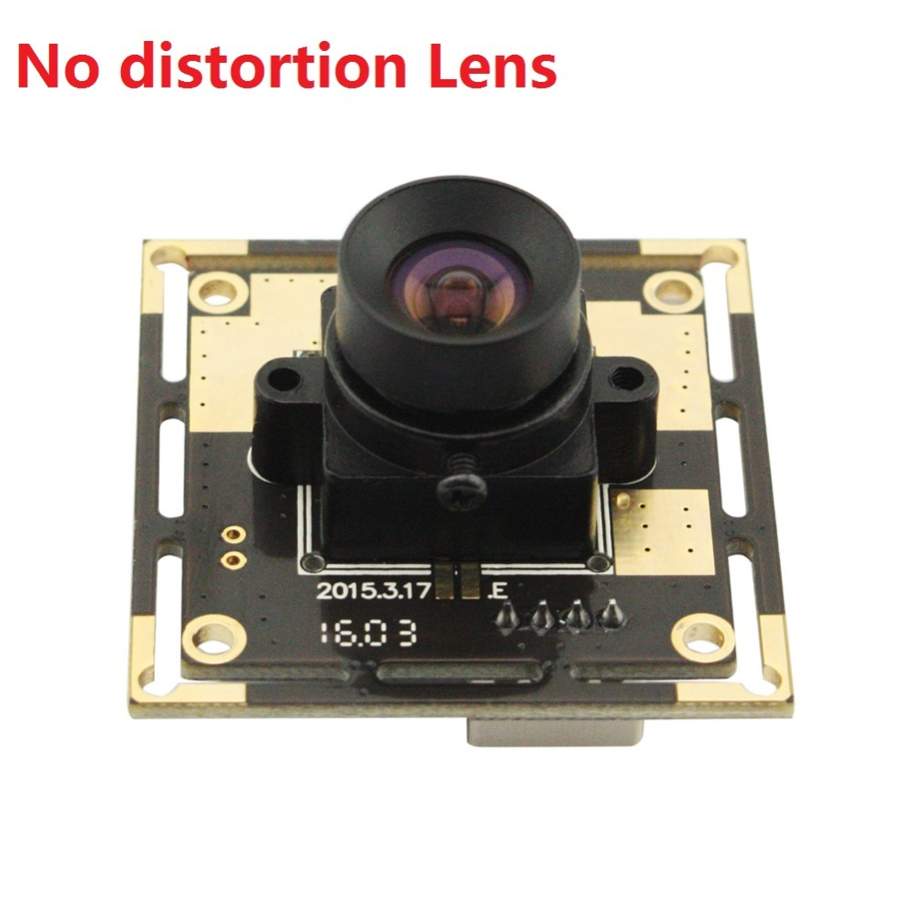 5MP 2592*1944 CMOS OV5640 USB2.0 OmniVision CCTV MJPEG/YUYV mini camera module with No distortion lens for Android/Linux/Windows free shipping 5mp 2592 1944 high resolution cmos ov5640 mjpeg