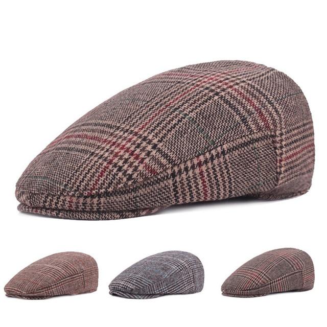 Fasbys 3 Estilo de la Tela Escocesa de la Boina de Lana Sombreros para  Hombre Unisex 261872e4cb4