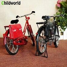 Accesorios creativos de decoración del hogar de la bicicleta artificial de la vendimia decoración hecha a mano del metal Decoración retro de la habitación
